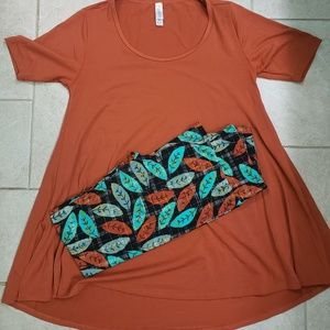 Lularoe fall outfit bundle xxs perfect os legging